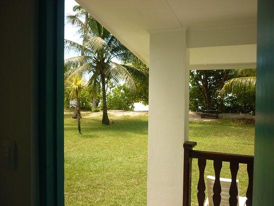 Anse Forbans, Seychelles: vue depuis le chalet sur le jardin