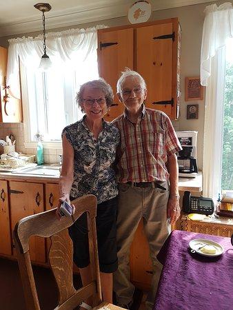 Saint-Irenee, Canada: Bernadette et Réjean