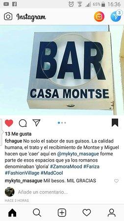 Fariza, إسبانيا: Casa Montse. BAR