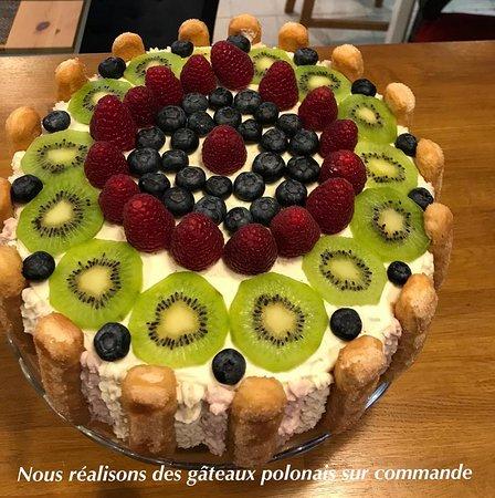 Tort malinowo-cytrynowy !