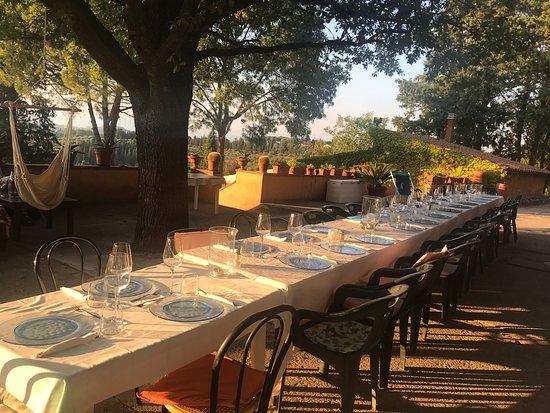 Agriturismo Aglioni: Der Tisch ist gedeckt, das Abendessen kann beginnen!