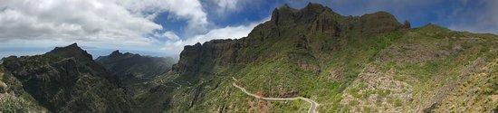 Masca Valley: Passstrasse nach Masca (Panorama)
