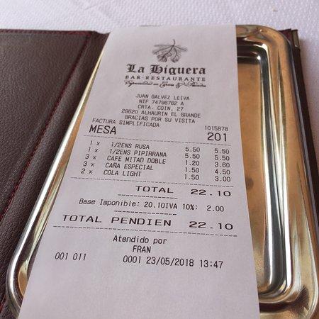 Restaurante La Higuera: Mittagstisch 👍