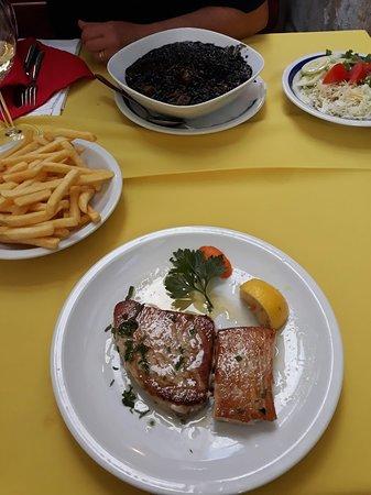Kukljica, Croatie : tuna&black risotto