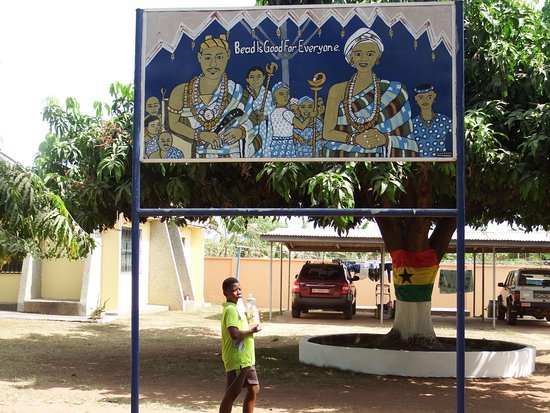 Eastern Region, Ghana: Sign for Cedi's factory