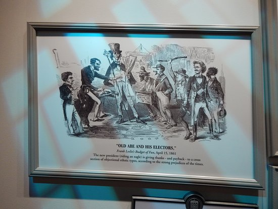 Political Cartoon Display 1 Picture Of Abraham Lincoln