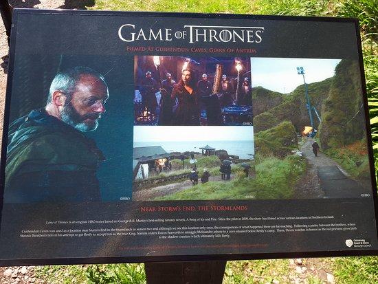 Cushendun, UK: placa que fala do filme