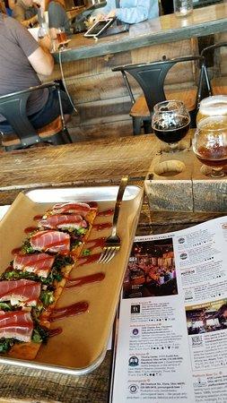 Minerva, OH: Market Garden Flatbread with Ahi Tuna