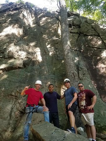 Just finished rock climbing.