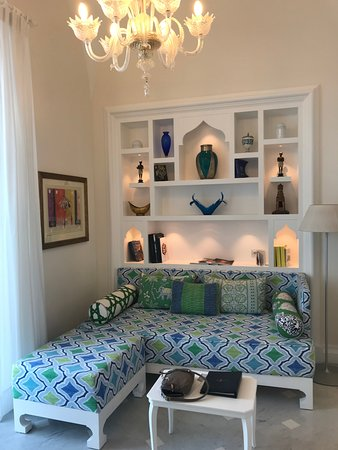 Sitting area of the Junior Suite (Sea View)