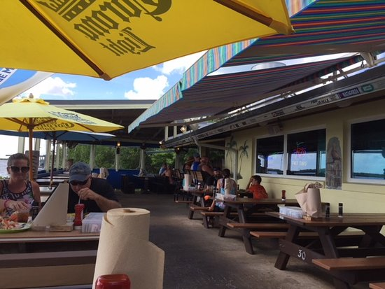 J.B.'s Fish Camp & Restaurant: Outside seating area