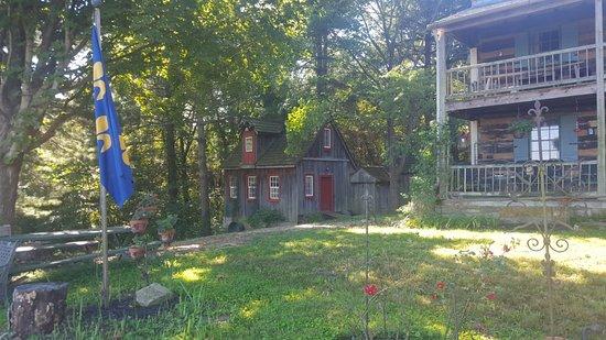 Fort Charrette Historic Village: Back yard workshop