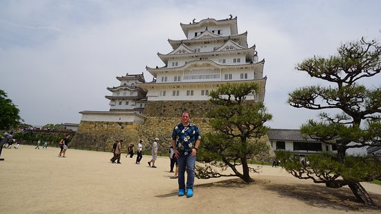 Yours truly at the Himeji Castle main courtyard