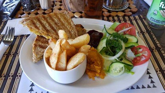 Van Reenen, Südafrika: Toasted Curry sandwich