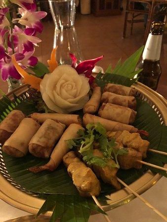 Restaurant Thai Garden: beautiful presentation of mediocre food.