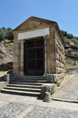 Alcantara, Spain: Front view of temple.