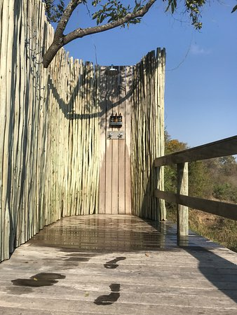 Londolozi Private Game Reserve, Sydafrika: Outdoor shower
