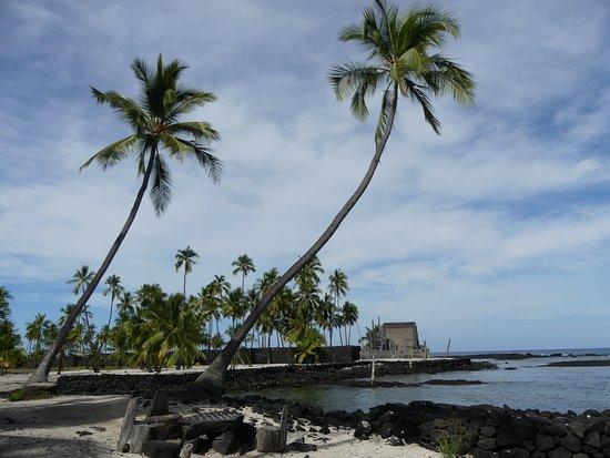 Honaunau, Hawái: Teilansicht der Tempelanlage