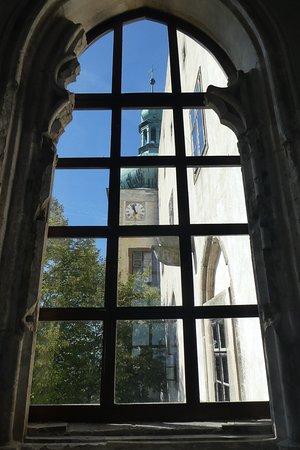 Buchlovice, República Checa: Burg Buchlov von der alten Kapelle aus