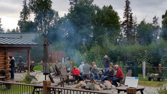 Trapper Creek, Alaska: firepits available for everyone's use.