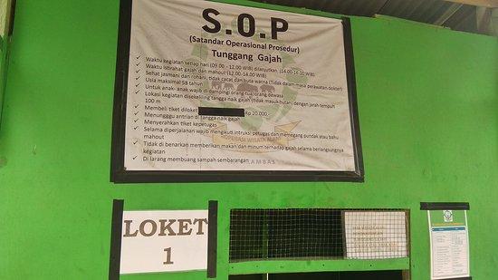 Lampung, Ινδονησία: SOP tunggang gajah
