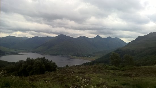 Picture from Mam Ratagan view point over Loch Duich & 5 Sisters of Kintail!