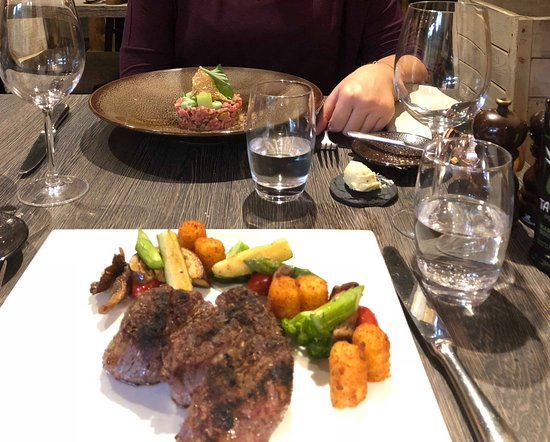 Rijmenam, Бельгия: Plat : Angus et Steak tartare