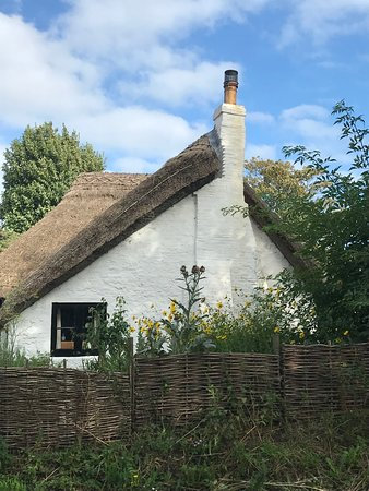 West Sussex, UK: Thatched cottage in Middleton-on-Sea