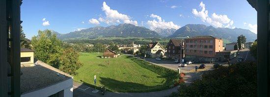 Sarnen, Schweiz: View from our bedroom window.