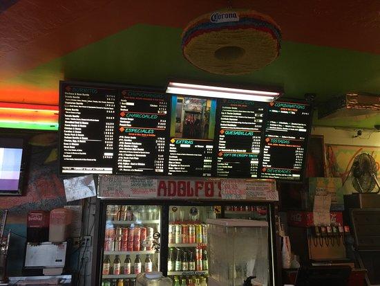 Adolfo's Mexican Food: menu