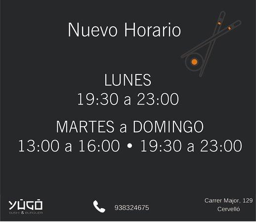 Cervello, Spain: nuevo horario
