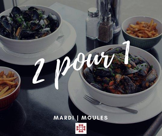 L'Ile-Perrot, Canadá: Obtenez DEUX assiettes de moules pour le prix d'UNE, et ce, tous les mardis dès 17h!