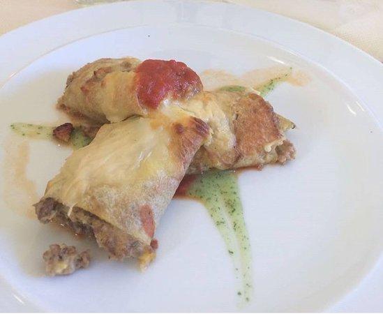 Faicchio, Italy: ripieno di carne macinata