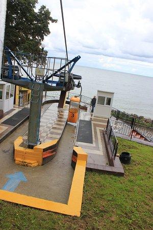 Cable Car: Вид из кабинки на Балтийское море.