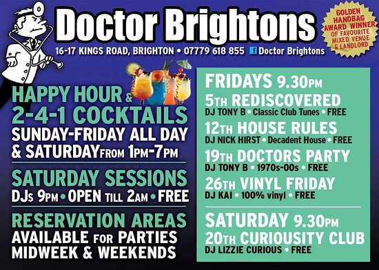 Doctor Brighton S October 2018 Line Up