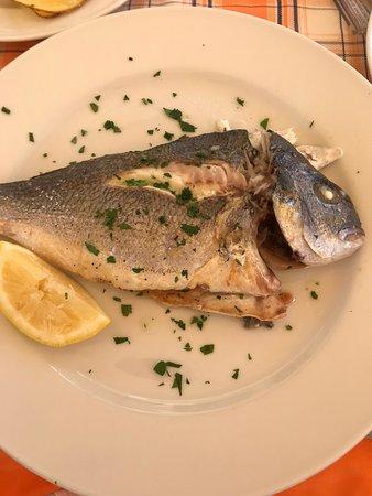 Rocca Sinibalda, Ý: Orata al forno