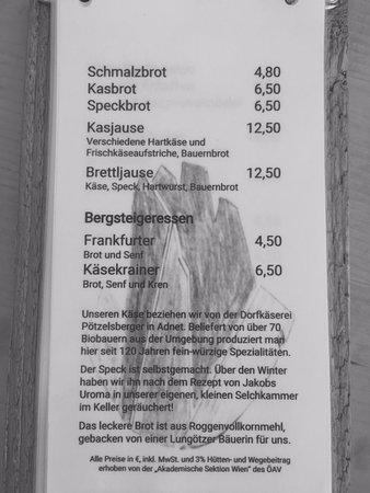 Аннаберг-Лунготц, Австрия: Brotzeiten