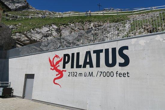 Mount Pilatus: top of mountain