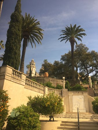 Hearst Castle: View from the entrance