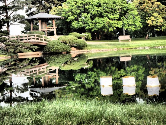 Nikka Yuko Japanese Garden: Our Lanterns Making Their Way Across The Water
