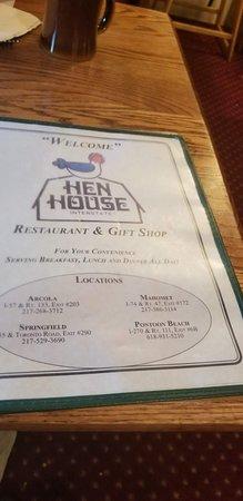 Mahomet, IL: Hen House Menu