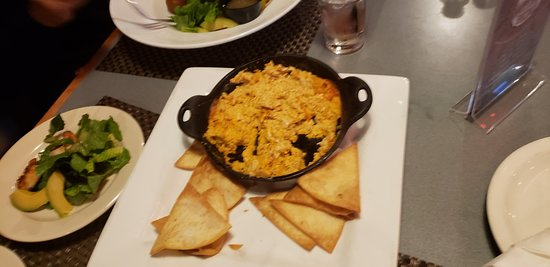 Buffallo Chicken dip with chips