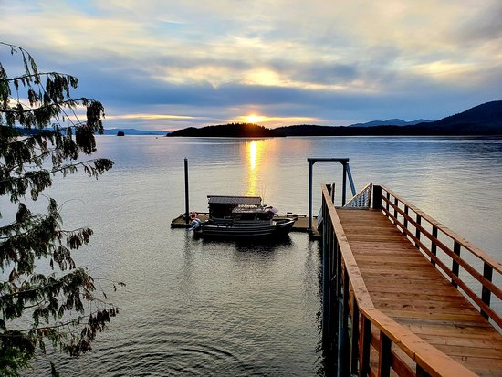 Ketchikan, AK: Private pier leading down to the private dock.