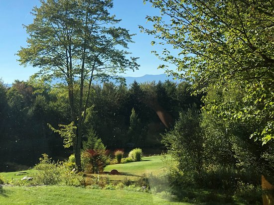 Elmore, VT: View from the private porch off our room.