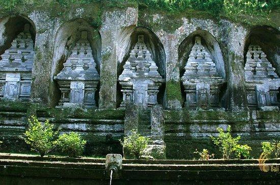 田んぼ、寺院のツアー風景:Tegalalangテラス、Tampak Siri…