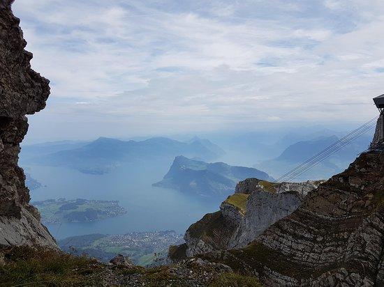 Mount Pilatus: Vue sur le lac des Quatre-Cantons