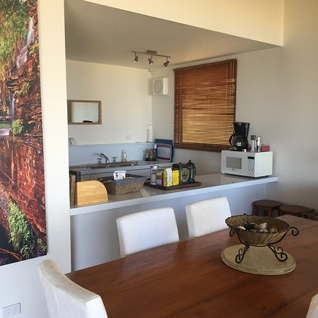 Kitchen all have coffee, micro full oven/stove fridge with views