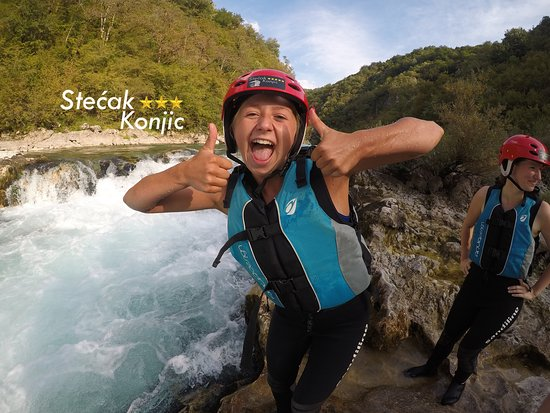 Konjic, Bosnia-Herzegovina: Rafting tour with friends from Denmark