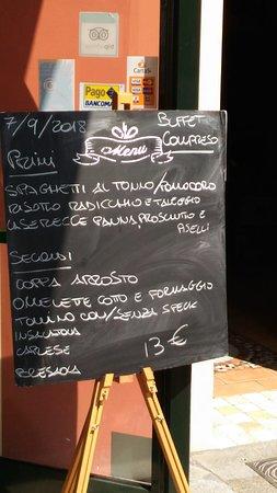 Cortemaggiore, Italie : il menù a prezzo fisso di venerdì 7 settembre