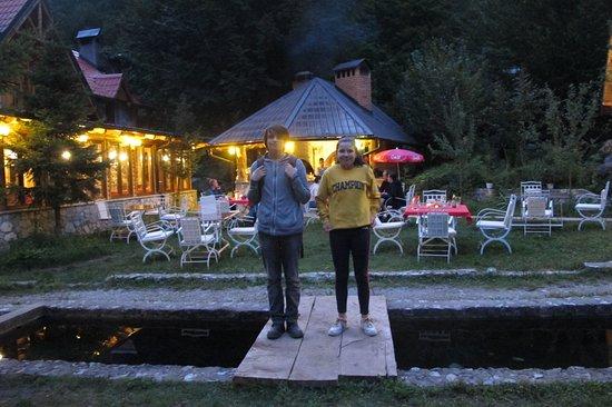 Valbona, Albania: Dining in sister hotel